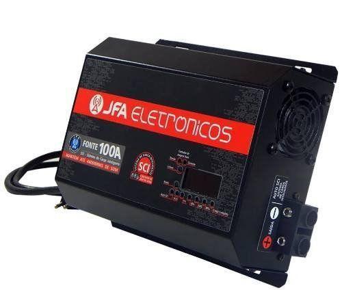 Fonte Carregador Bateria Jfa 100a C/ Voltimetro Sistema Sci
