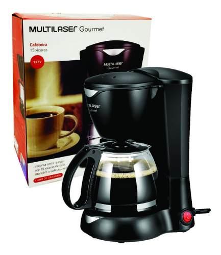 Cafeteira Elétrica Multilaser Gourmet 127v 200w Preta Be01
