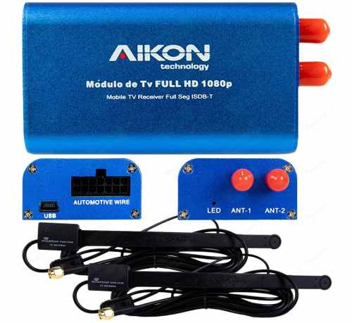 Tv Box Full Seg 2 Antenas Aikon