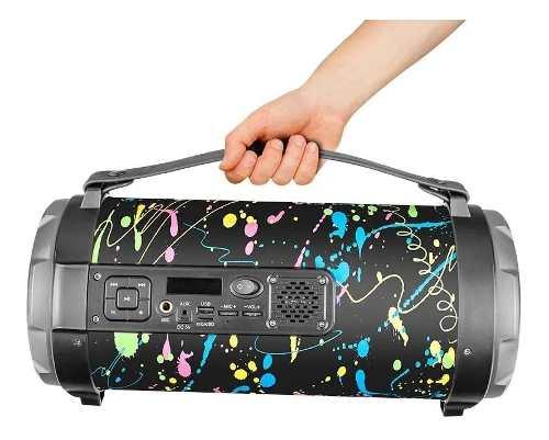 Caixa De Som Portátil Pulse Sp362 Paint Blast - 120w