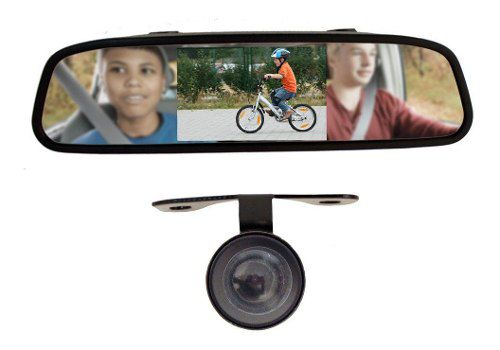 Monitor Lcd Espelho Retrovisor Tela 4.3 Pol Camera Ré Golden