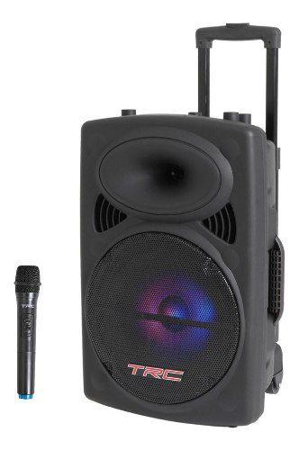 Caixa De Som Portátil Trc 436 Bluetooth 350w Iluminação Led