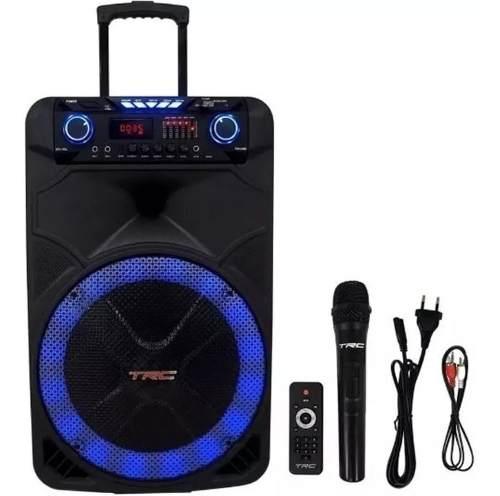 Caixa De Som Amplificada Trc515 500w Com Microfone Bluetooth