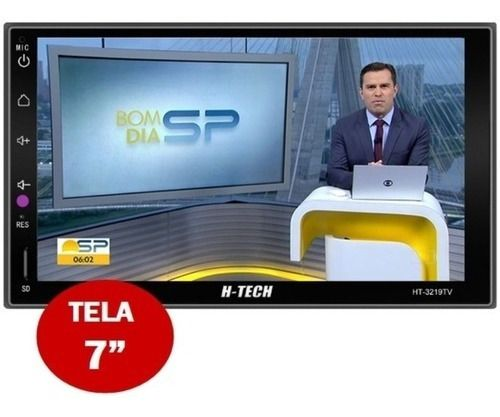 Multimídia Mp5 H-tech 3019 Tv Digital Integrado Espelhamento Android Ios Bluetooth