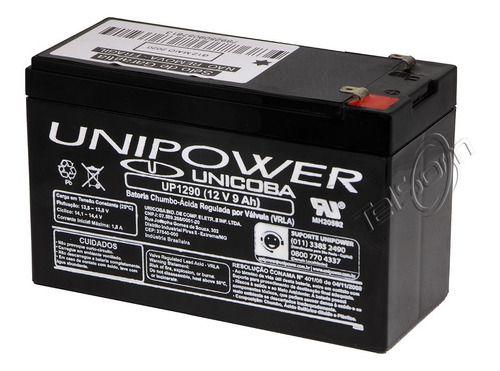 Bateria Unipower 12v 9a Nobreaks Alarmes