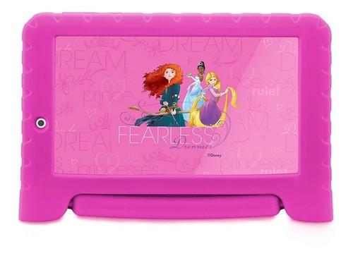 Tablet Infantil Multilaser Disney Princesas Wi-fi 16gb Rosa