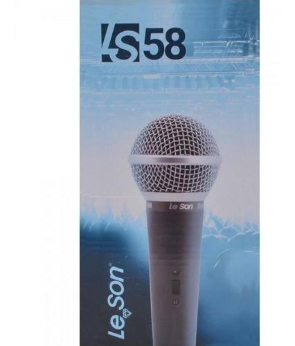 Microfone LS58 Din Champanhe Leson