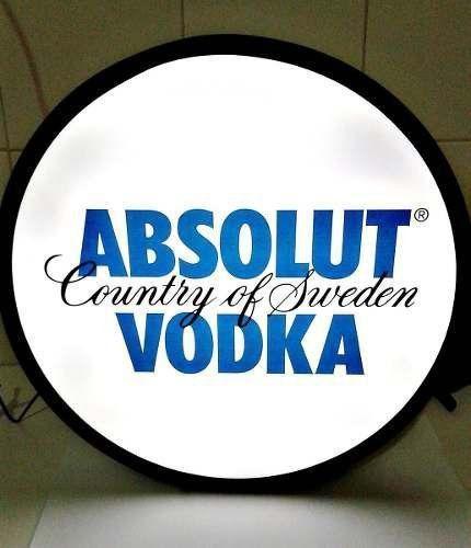 Luminoso / Luminária Parede Bar Com Led- Absolut Vodka