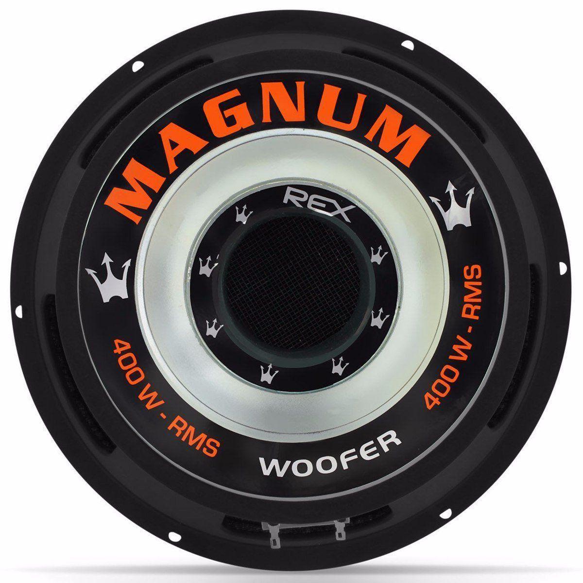 Alto Falante Magnum Woofer Rex 10 Polegadas 400w Rms 8 Ohms