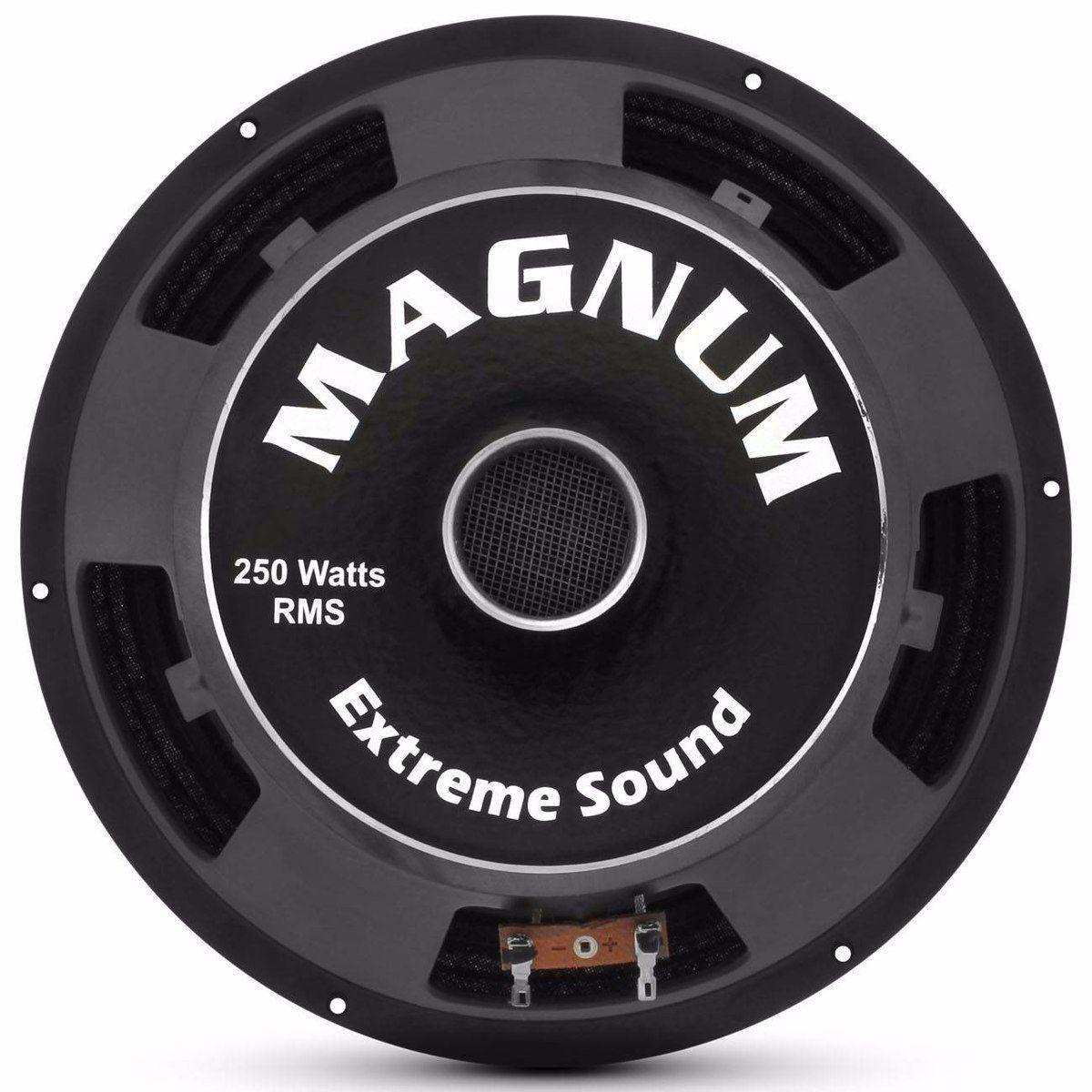 Alto Falante Magnum Woofer Trio 10'' 250w Rms 8 Ohms