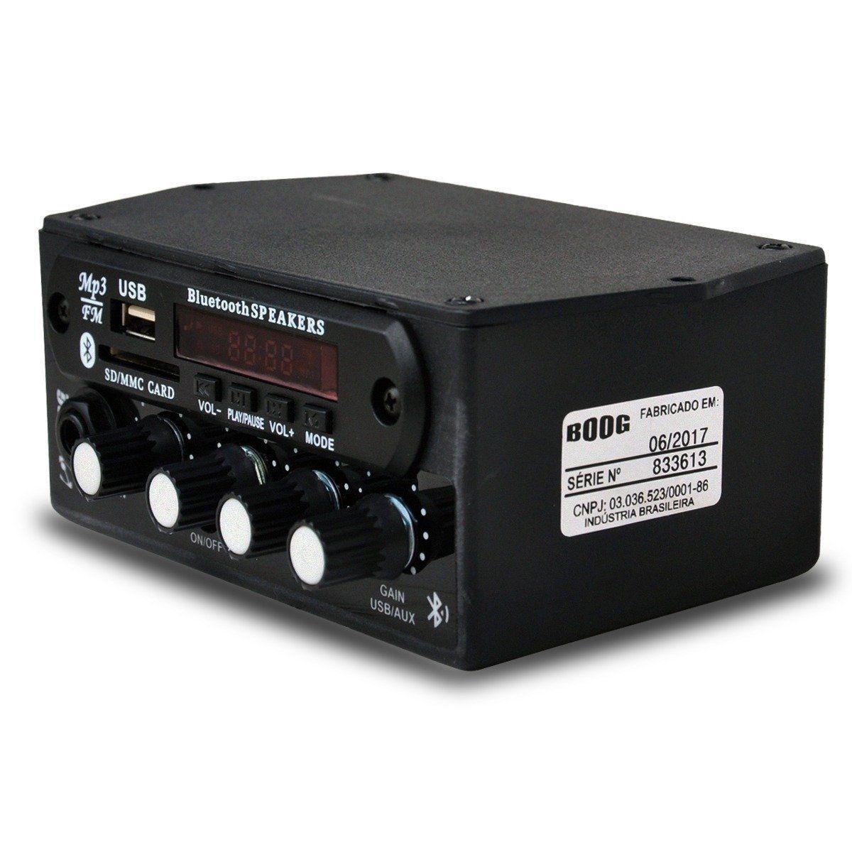 Boog Mixer Automotivo C/ Usb C/ P2 Para Microfone + Controle