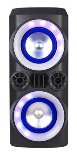 Mini Caixa Torre Bluetooth Led Usb Neon 300w Sp379 Multilaser