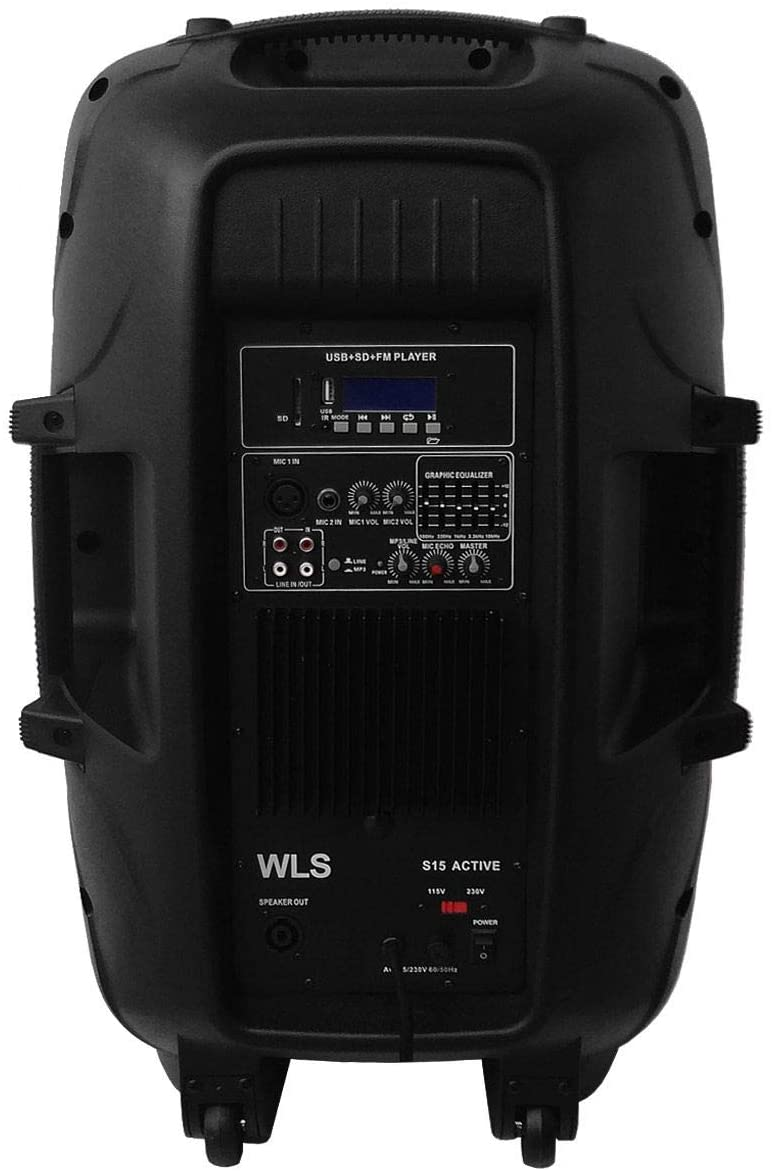 Caixa Ativa Wls S15 250w Rms - C/usb Fm Bluetooth