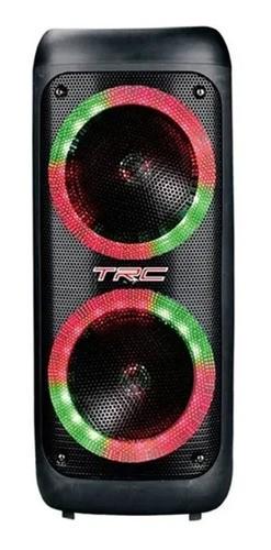 Caixa de Som Amplificada TRC 5540 Bluetooth USB iluminação Led Rádio FM 400W