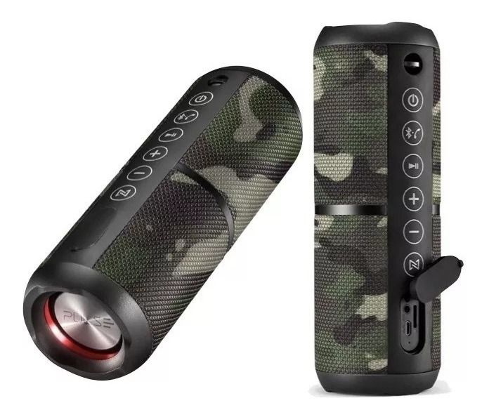Caixa De Som Pulse Wave 2 Tws Bluetooth 20w Camuflada Sp374