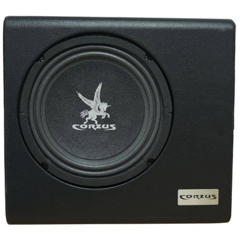 Caixa Som Amplificada Carro Mini Slim Corzus 200 Rms 8