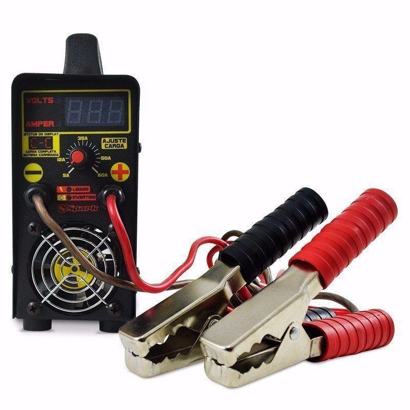 Carregador De Bateria Usina Charger Spark Profissional Inteligente 60 A Bivolt