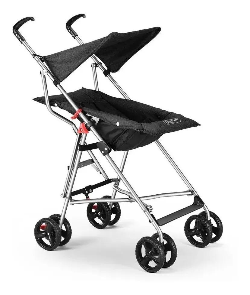 Carrinho De Bebê Guarda-chuva Pocket preto Multikids Baby