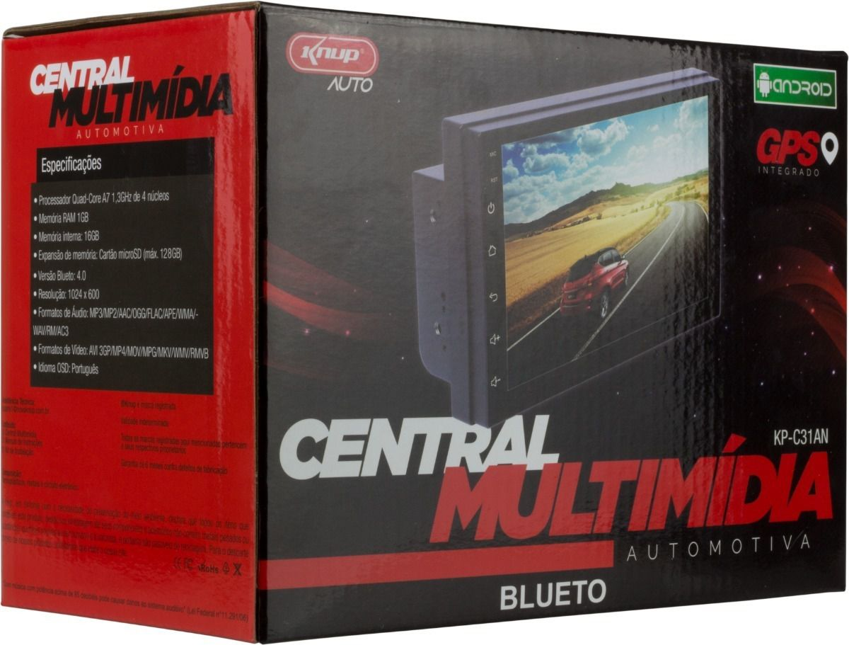 Central Multimídia Android Knup Kp-c31an