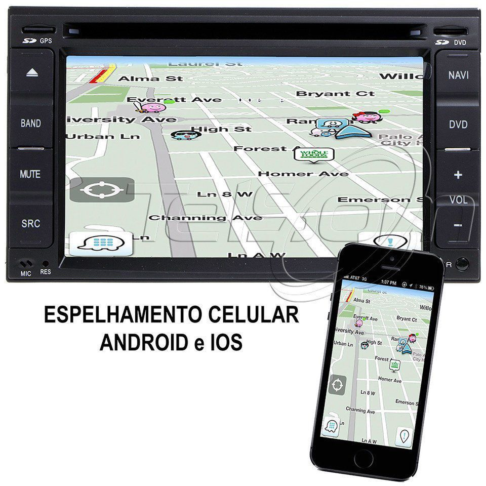 Central Multimídia Universal Aikon 6500 5.0 Plus Phonelink