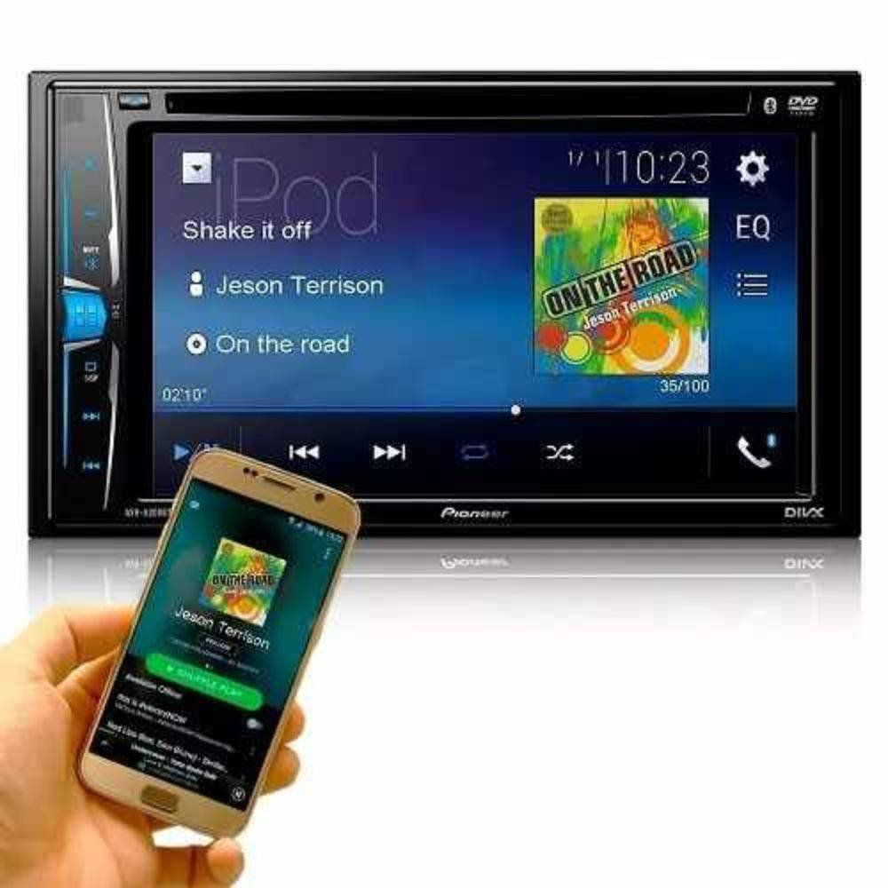 9998ac8bc Dvd Automotivo Pioneer Avh-208bt Bluetooth 2din Lançamento - Telsom