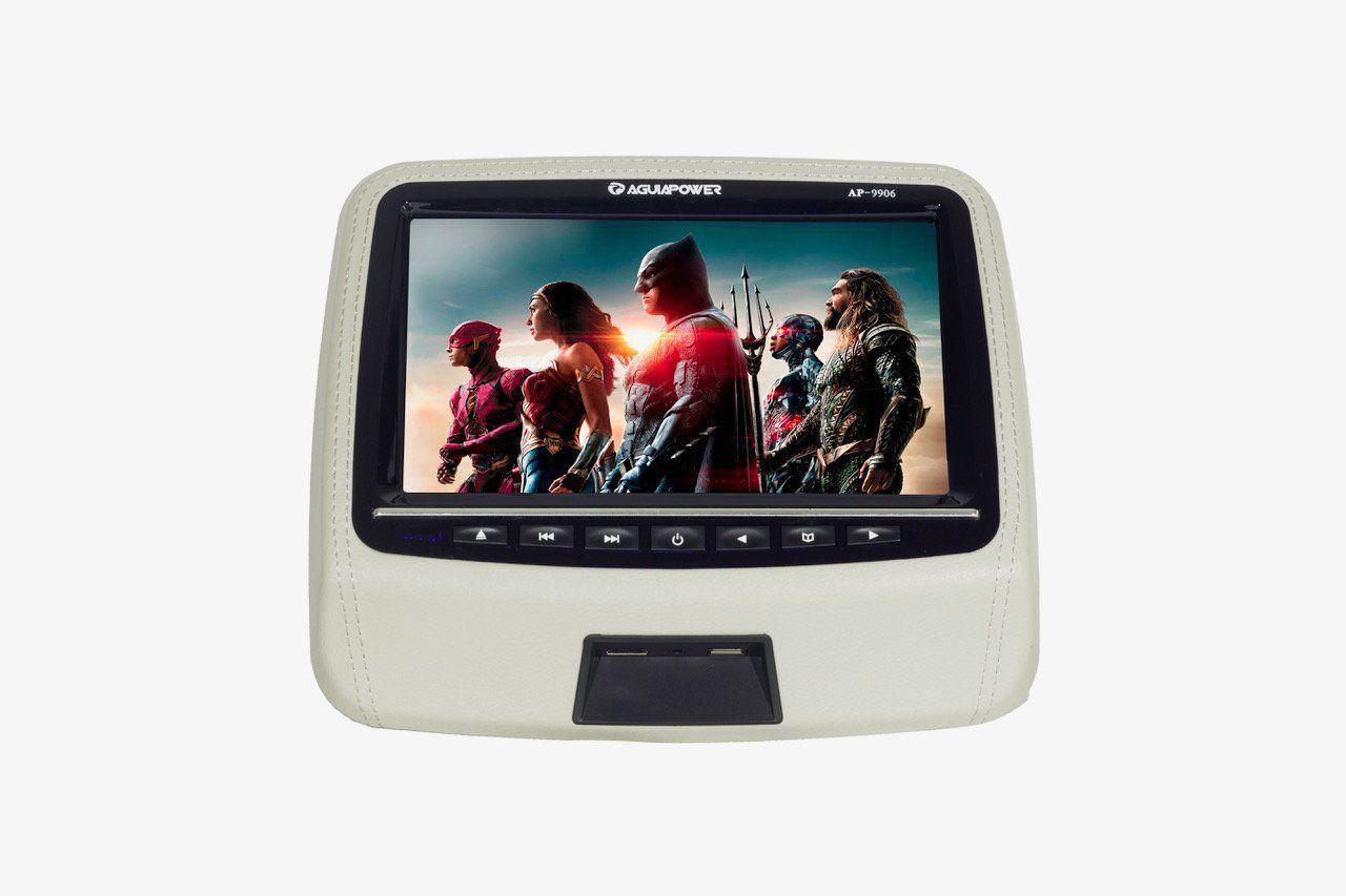 Dvd Player - Tela Para Encosto De Cabeça 9 Polegadas Cinza AP9906 Aguia Power
