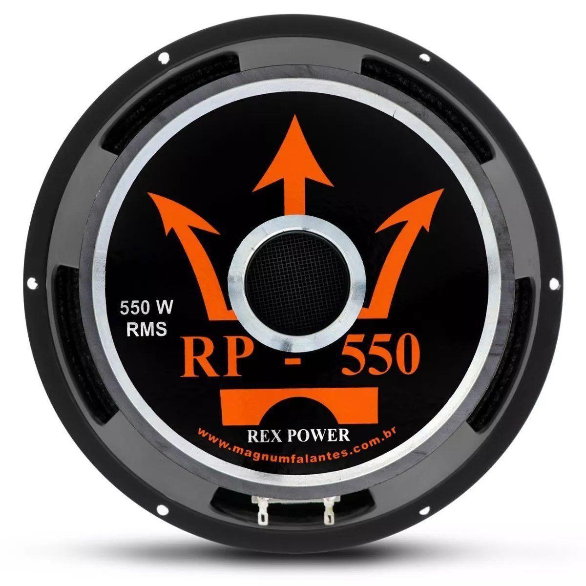 Falante Woofer 12 Pol 550w Rms 4 Ohms Magnum Rex Power