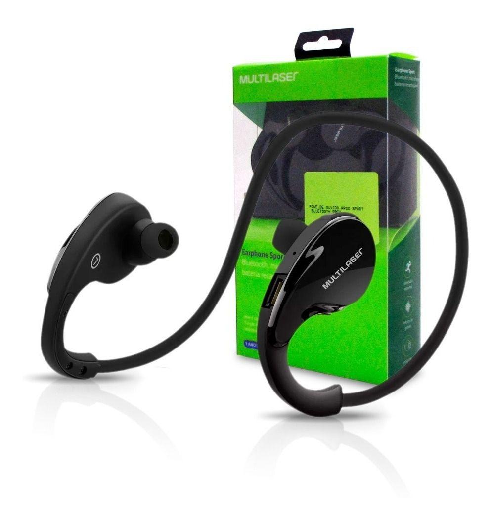 Fone De Ouvido Arco Sport Multilaser Bluetooth Preto Ph181