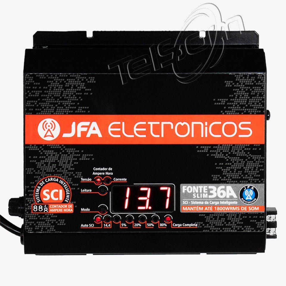 Fonte Automotiva Jfa 36a 1800w Sci Carregador Bateria Bivolt