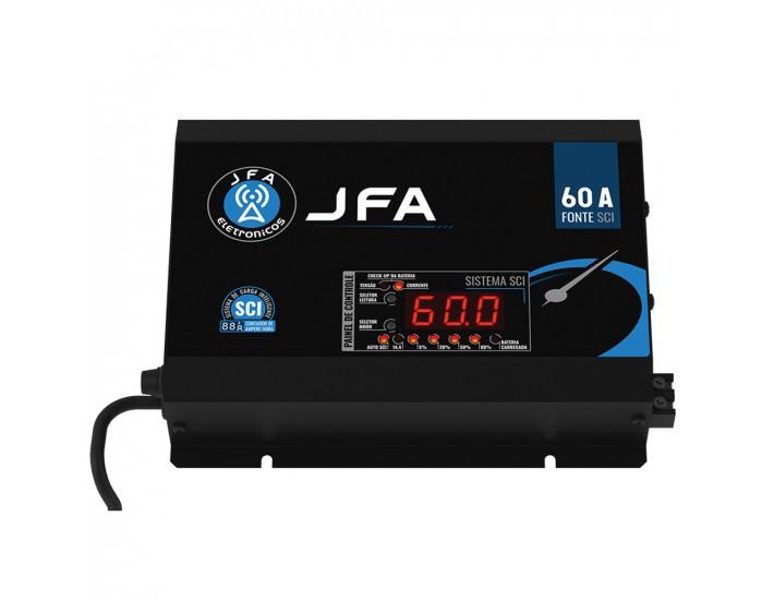 Fonte Carregador de Bateria 60A JFA Sistema Inteligente Sci