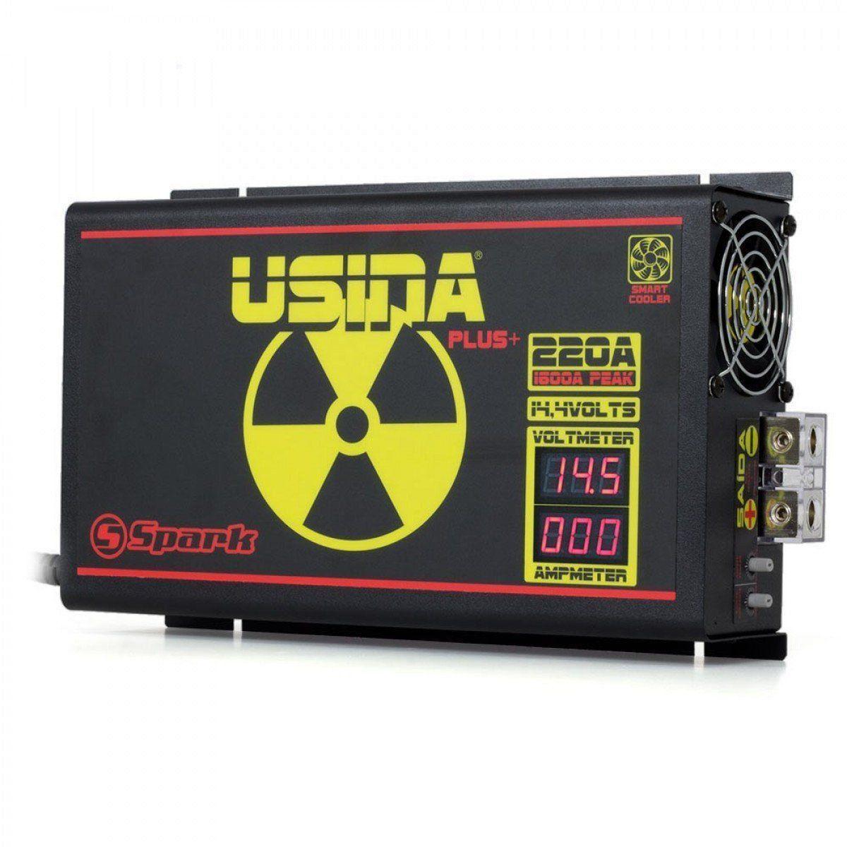 Fonte Usina Modelo Novo 220 A Plus com Voltimetro e Amperimetro