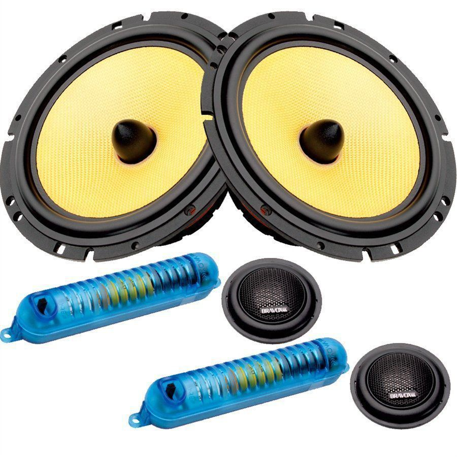 Kit 2 Vias Bravox 6 Pol 280w Cs60k Midbass Tweeter