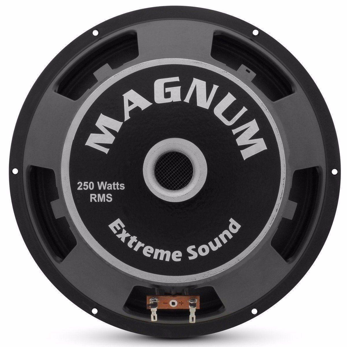 Kit 4 Magnum Woofer Trio 10'' 250w Rms 4 Ohms Tecido