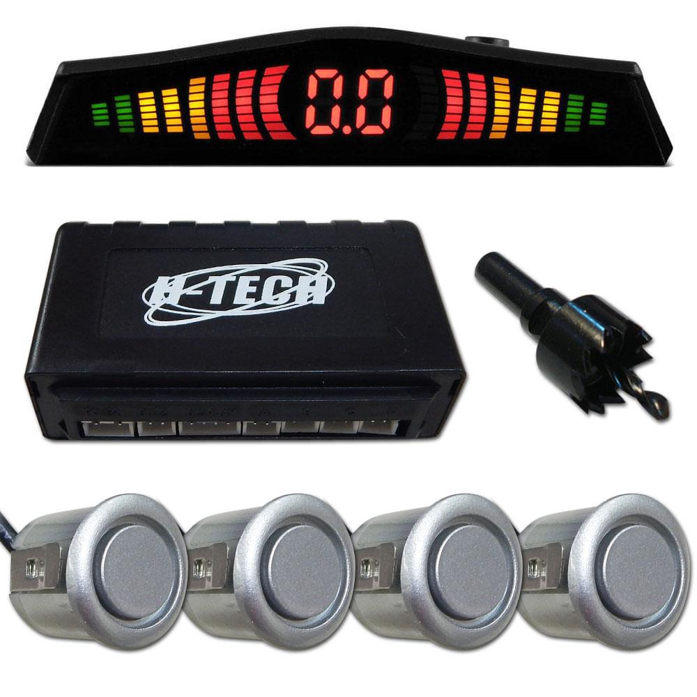 Kit Sensor De Estacionamento H-tech - Prata
