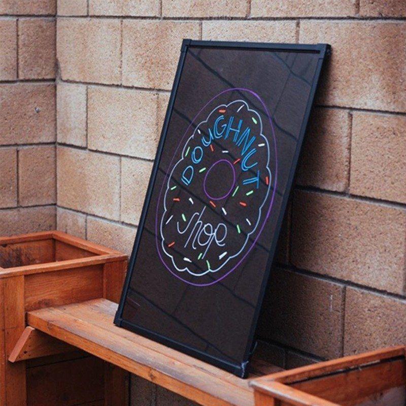 Lousa Painel 40x60 Quadro Letreiro Luminoso Led 6 Canetas