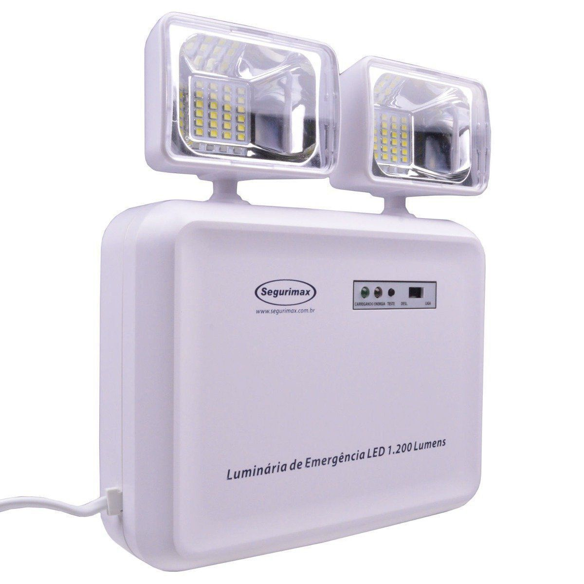Luminária De Emergência Led 1200 Luméns Segurimax Bivolt
