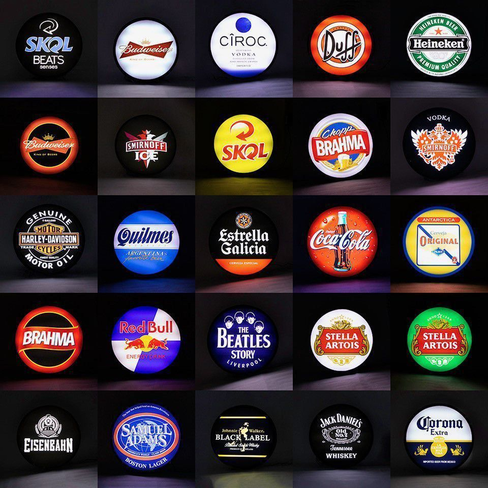 Luminoso / Luminária Parede Bar Com Led- Guinness