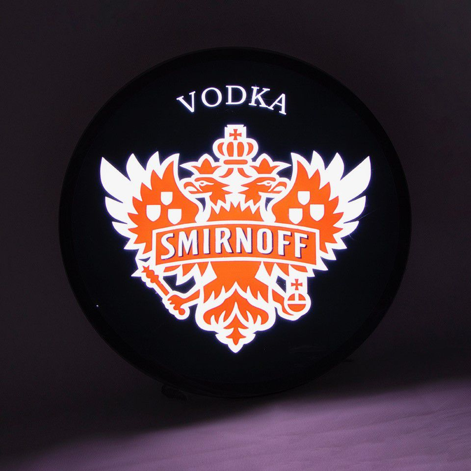 Luminoso Luminaria Parede Bar Smirnoff Vodka