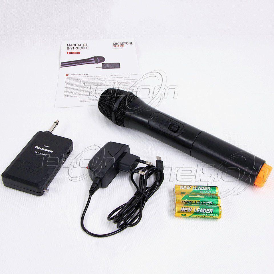 Microfone Sem Fio Tomate Mt-2203 Wireless