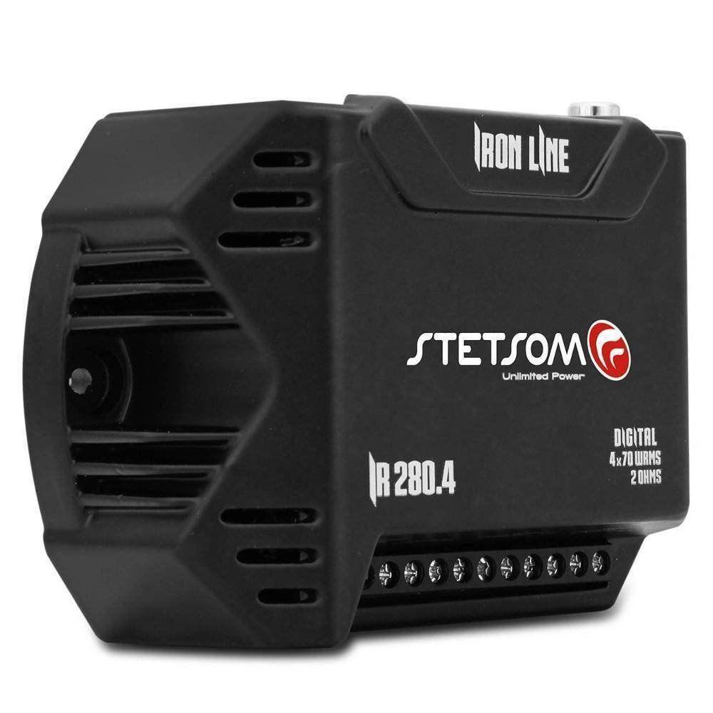 Módulo Amplificador Stetsom 280w Rms Iron Line Ir280x4 Stereo 4 canais 70w Rms