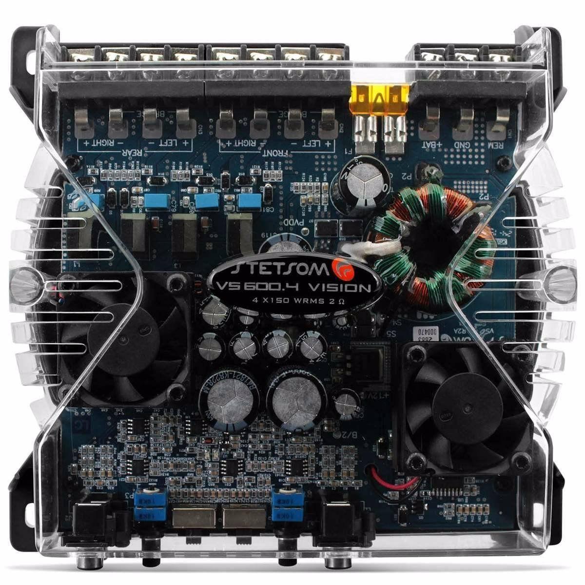 Módulo Amplificador Stetsom Vs600.4 600w 4 Canais 2 Ohms