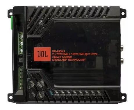 Modulo Amplificador Jbl Br-a 300.3 3 Canais 300w Rms 2 Ohms