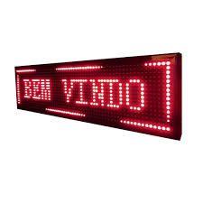 Painel Display Letreiro Led Vermelho 100x20 Interno