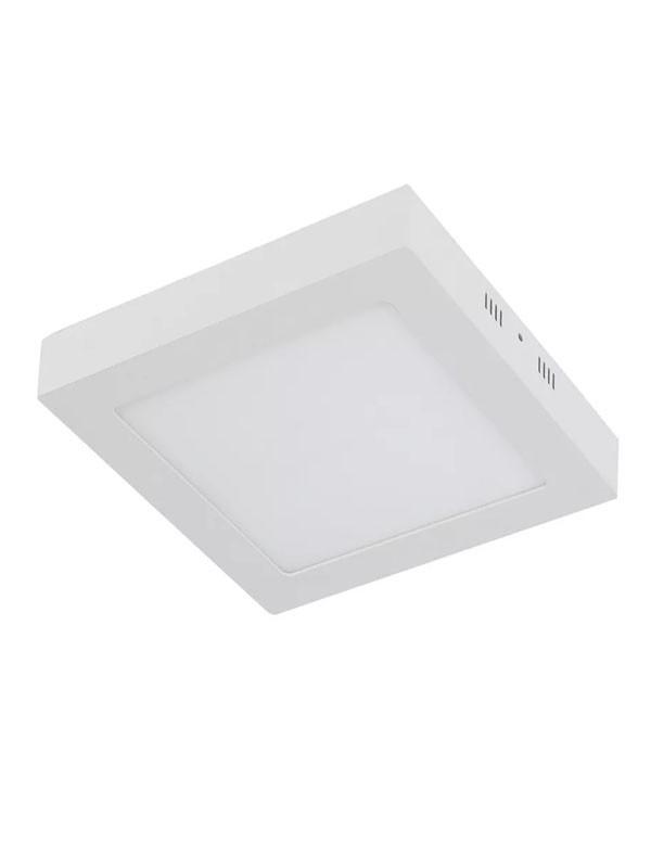 Plafon 6w Sobrepor Quadrado Branco Quente