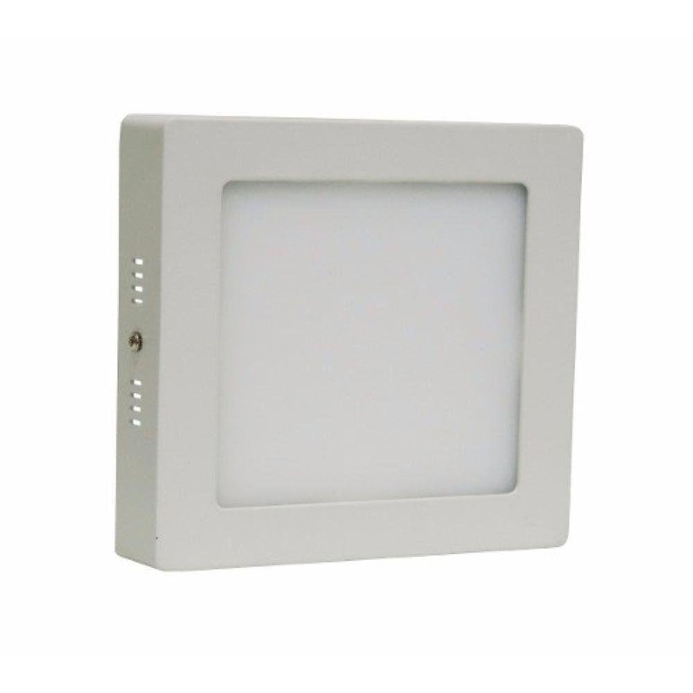 Plafon Super Led 6w Quadrado Sobrepor Branco Frio