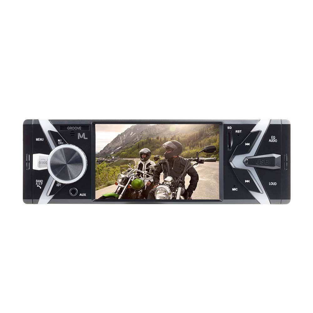 MP5 Automotivo Groove Din Bluetooth Mp5 Fm Usb + Pen Drive 8 Gb