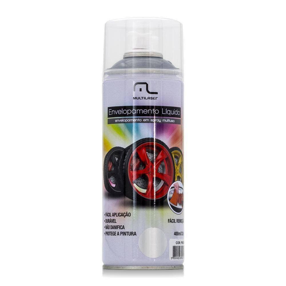 Spray De Envelopamento Líquido 400 Ml Prata Multilaser