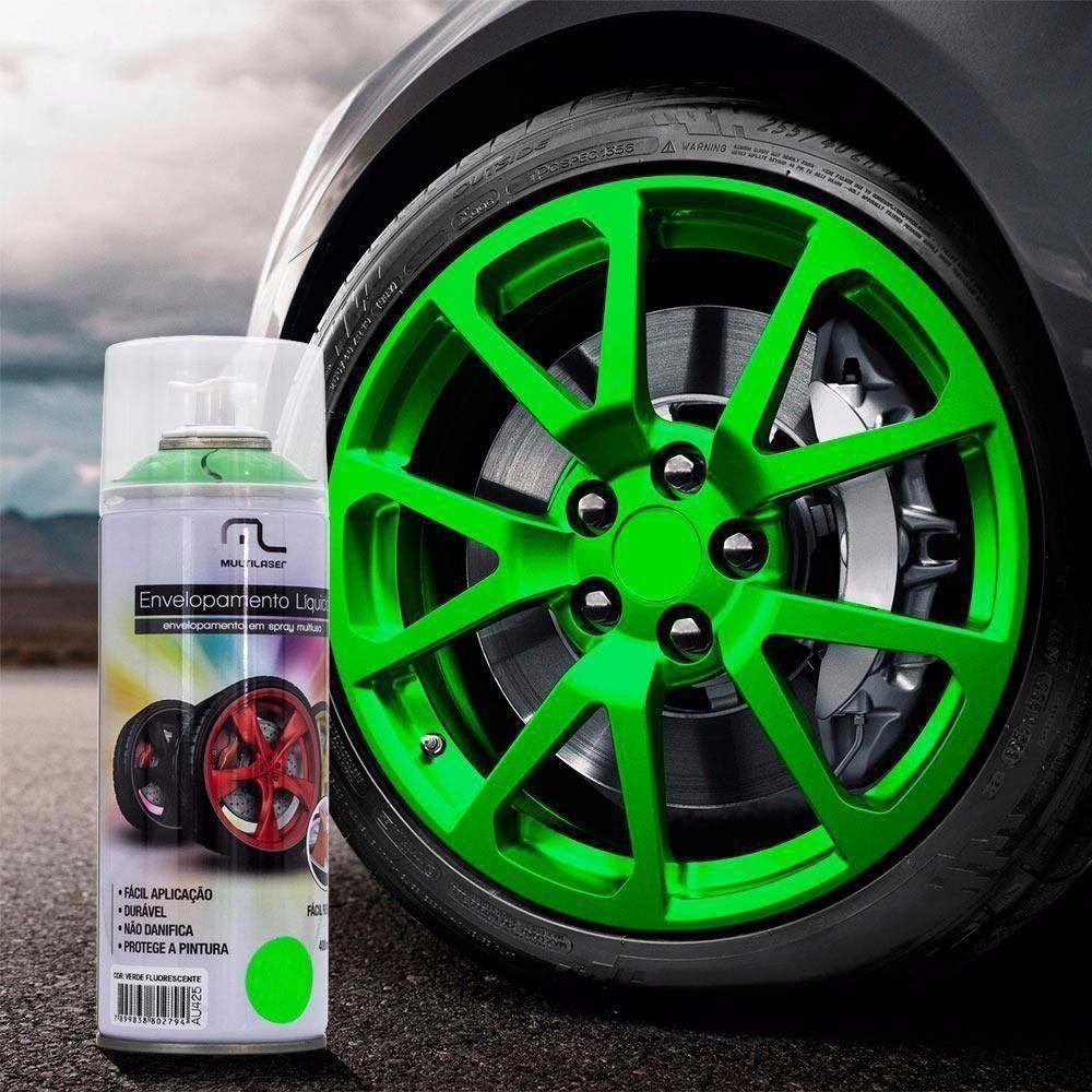 Spray De Envelopamento Líquido Multilaser Verde Fluorescente
