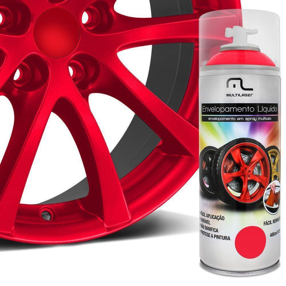 Spray De Envelopamento Líquido Multilaser Vermelho  Fluorescente