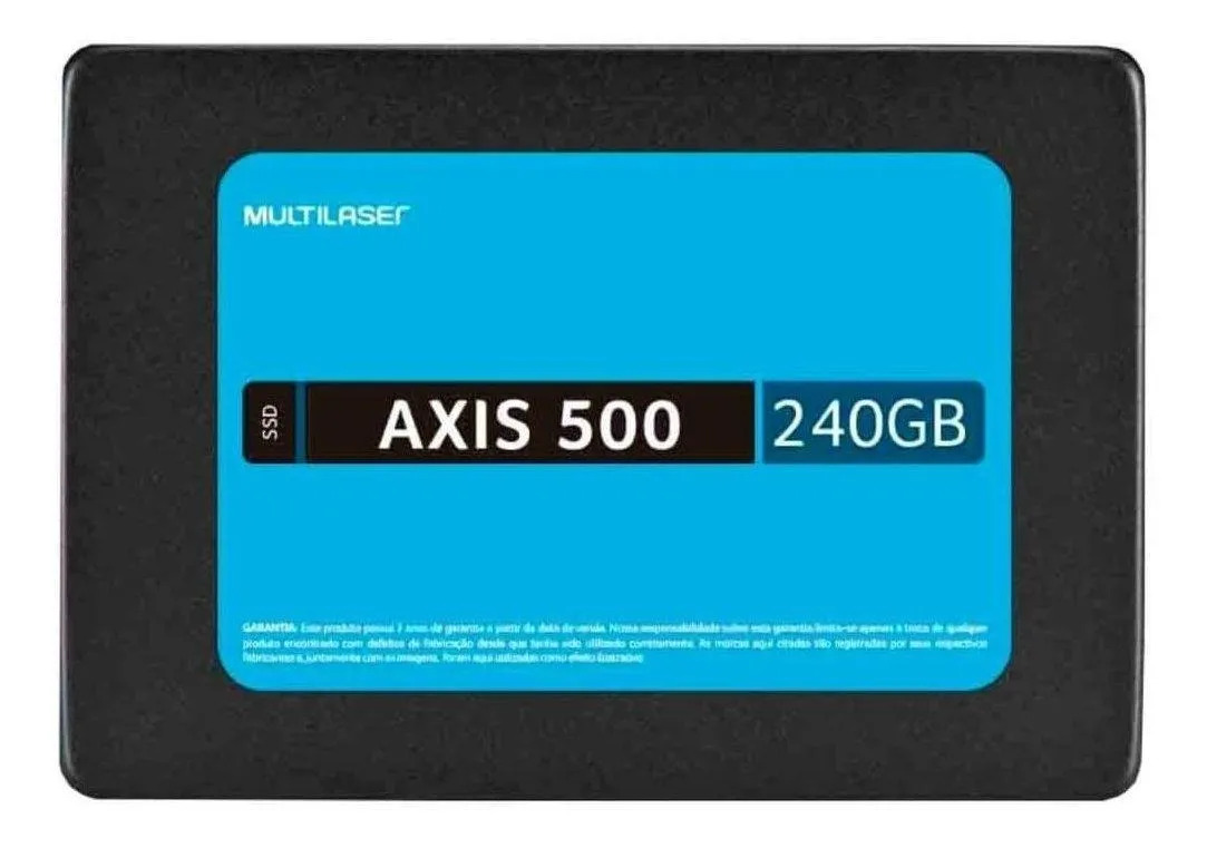 Ssd Multilaser 2.5 Pol. 240Gb Axis 500 Gravação 500 Mb/S
